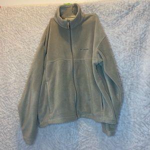 Men's Light Brown Columbia Full Zip Fleece Jacket